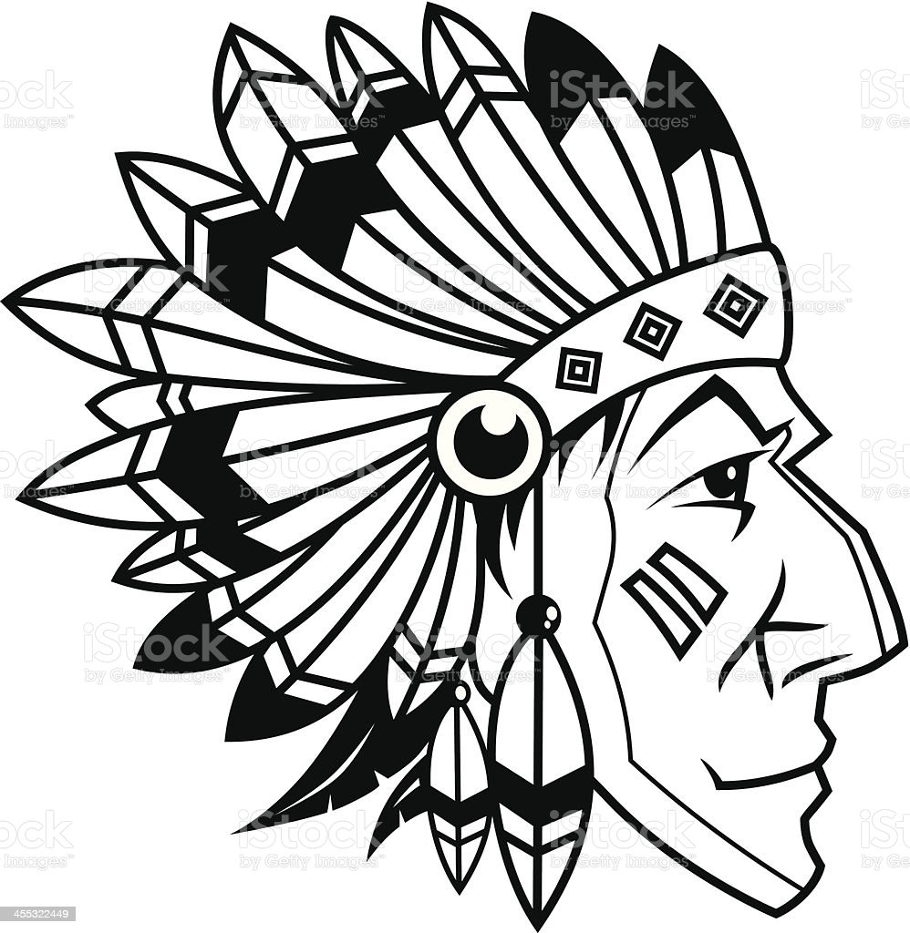 vector indian chief royalty-free stock vector art