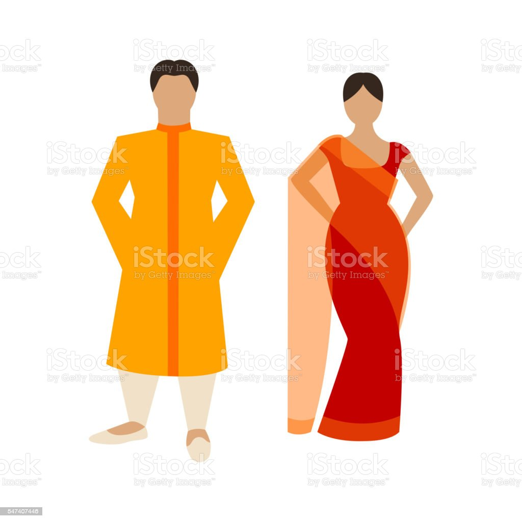 4f7c0c27b2 Vector Indian Couple Stock Vector Art & More Images of Adult - iStock
