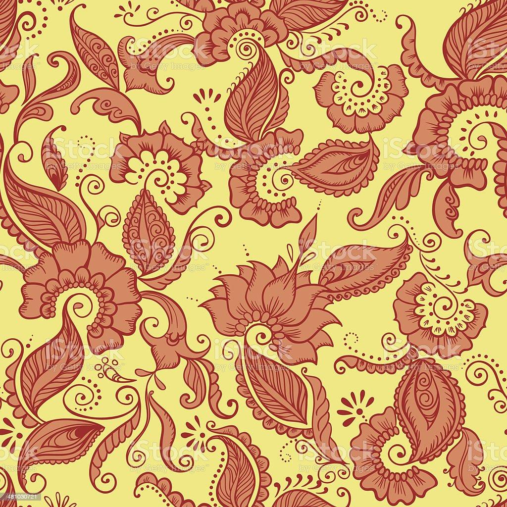 vecteur tissu indien motif de fleurs cliparts vectoriels. Black Bedroom Furniture Sets. Home Design Ideas