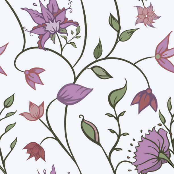 Vector indio ornamentos florales diseño de fondo sin costuras. - ilustración de arte vectorial