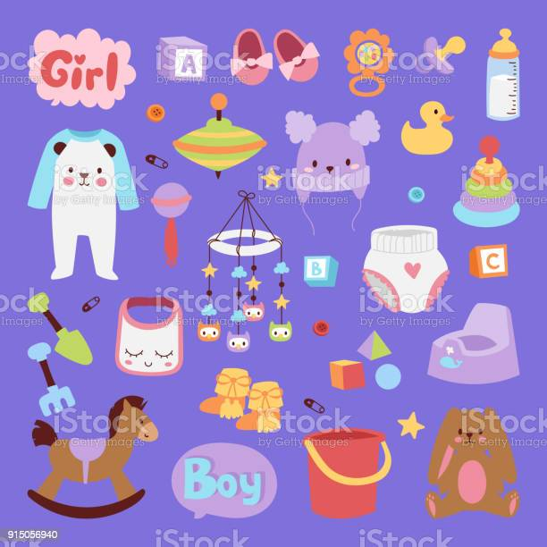 Vector infant small newborn baby clothes and toys icon set design vector id915056940?b=1&k=6&m=915056940&s=612x612&h=adnyf8pokqgej2v6y9cuuulqnllzreq6xba tsgzyou=