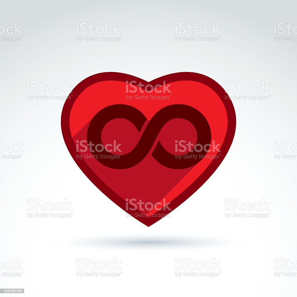 Vector Infinity Icon Eternal Life Idea Eternity Symbol Stock Vector