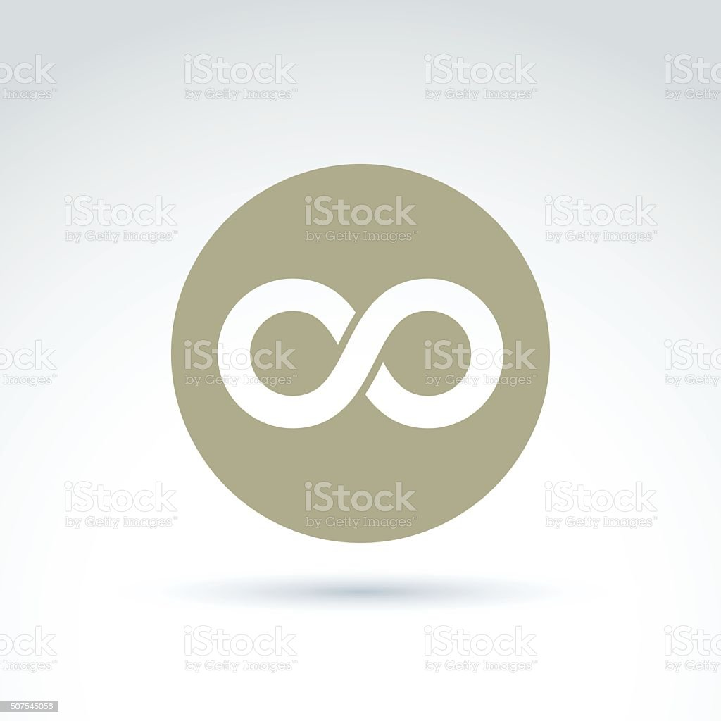Vector infinity icon isolated on white background, illustration vector art illustration