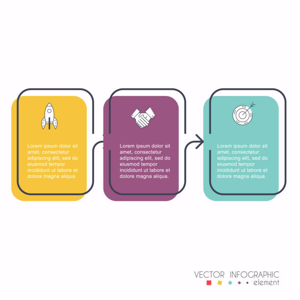 Vector info graphics for your business presentations. Can be used for website layout, numbered banners, diagram, horizontal cutout lines, web design. - illustrazione arte vettoriale