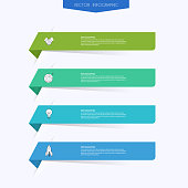 istock Vector info graphics for your business presentations. Can be used for website layout, numbered banners, diagram, horizontal cutout lines, web design. 1181604302