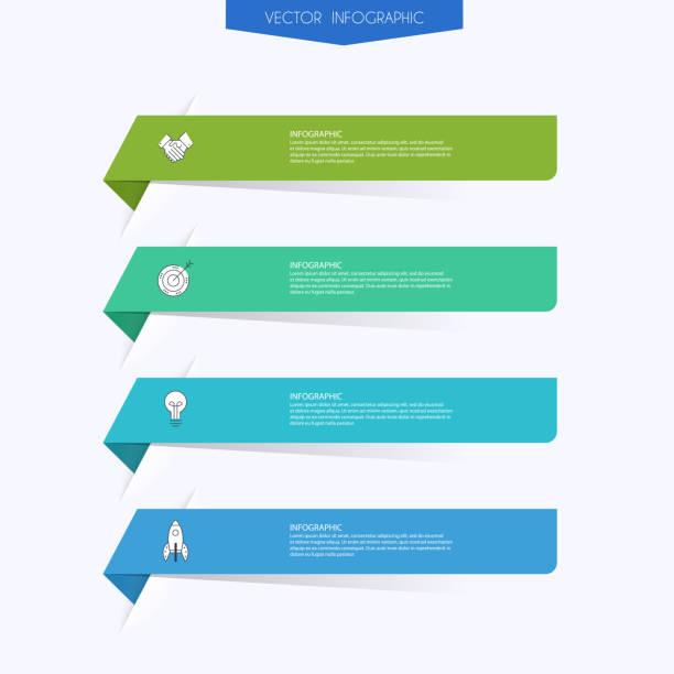 vektor-infografiken für ihre geschäftspräsentationen. kann für website-layout, nummerierte banner, diagramm, horizontale ausschnittlinien, web-design verwendet werden. - transparent stock-grafiken, -clipart, -cartoons und -symbole