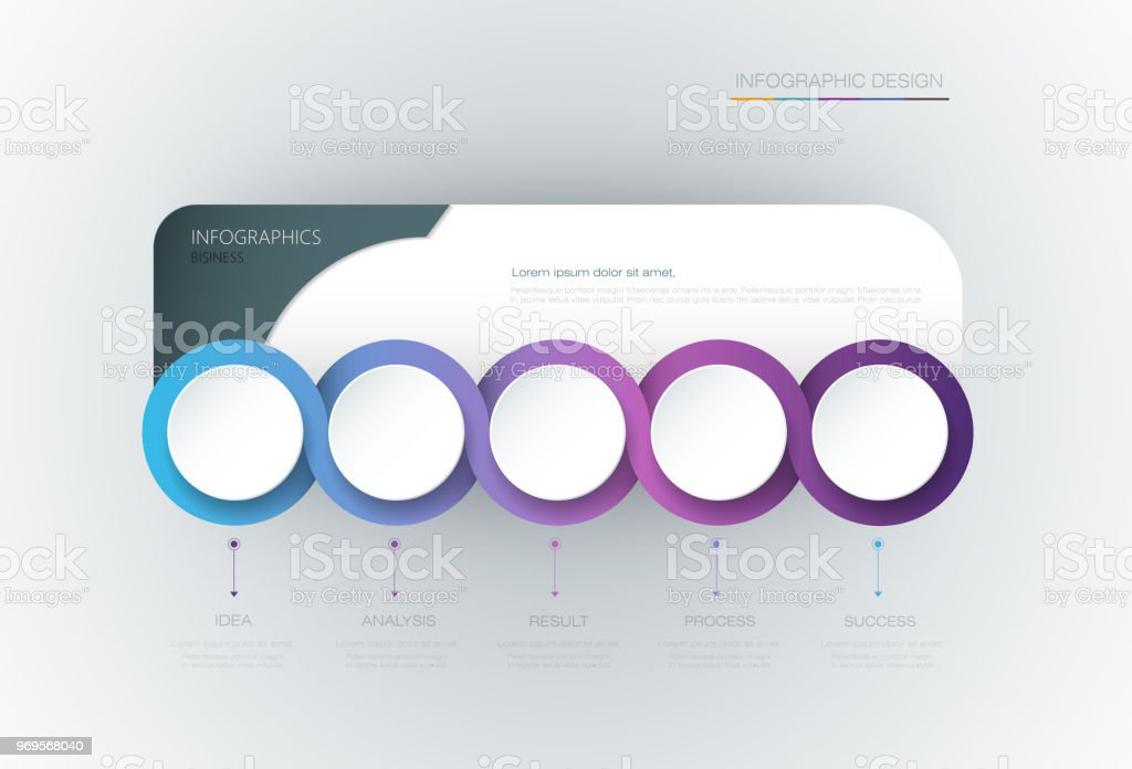 vector infographic 3d circle label template design business concept