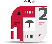 Abstract design elements for infographic content visualisation.