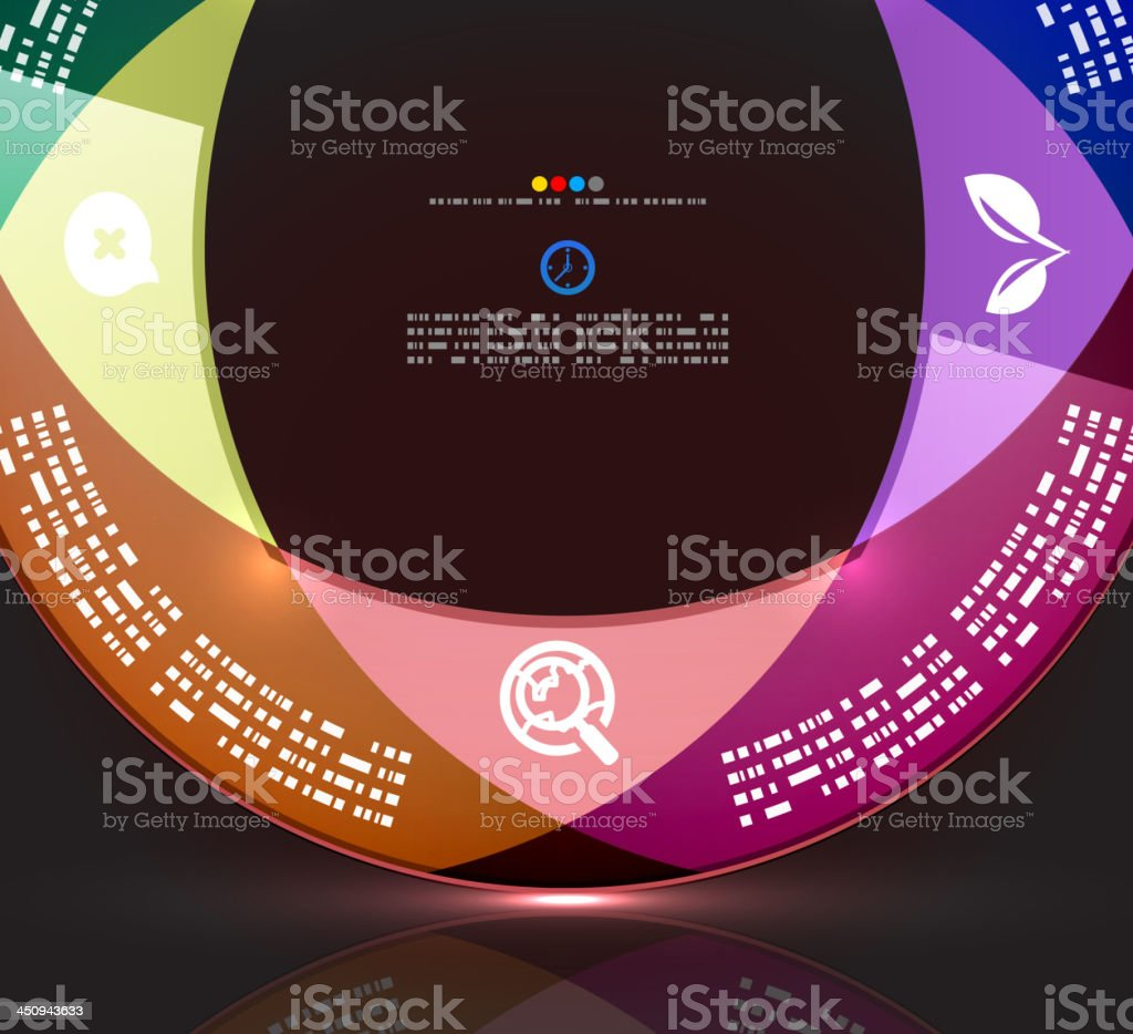 Vector infographic background royalty-free stock vector art