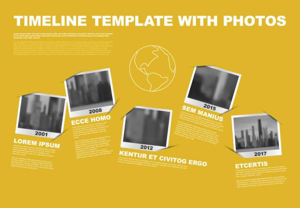 ilustrações, clipart, desenhos animados e ícones de vector infográfico empresa marcos timeline modelo - imagem