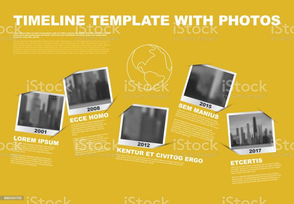 Société d'infographie vectorielle jalons Timeline modèle - Illustration vectorielle