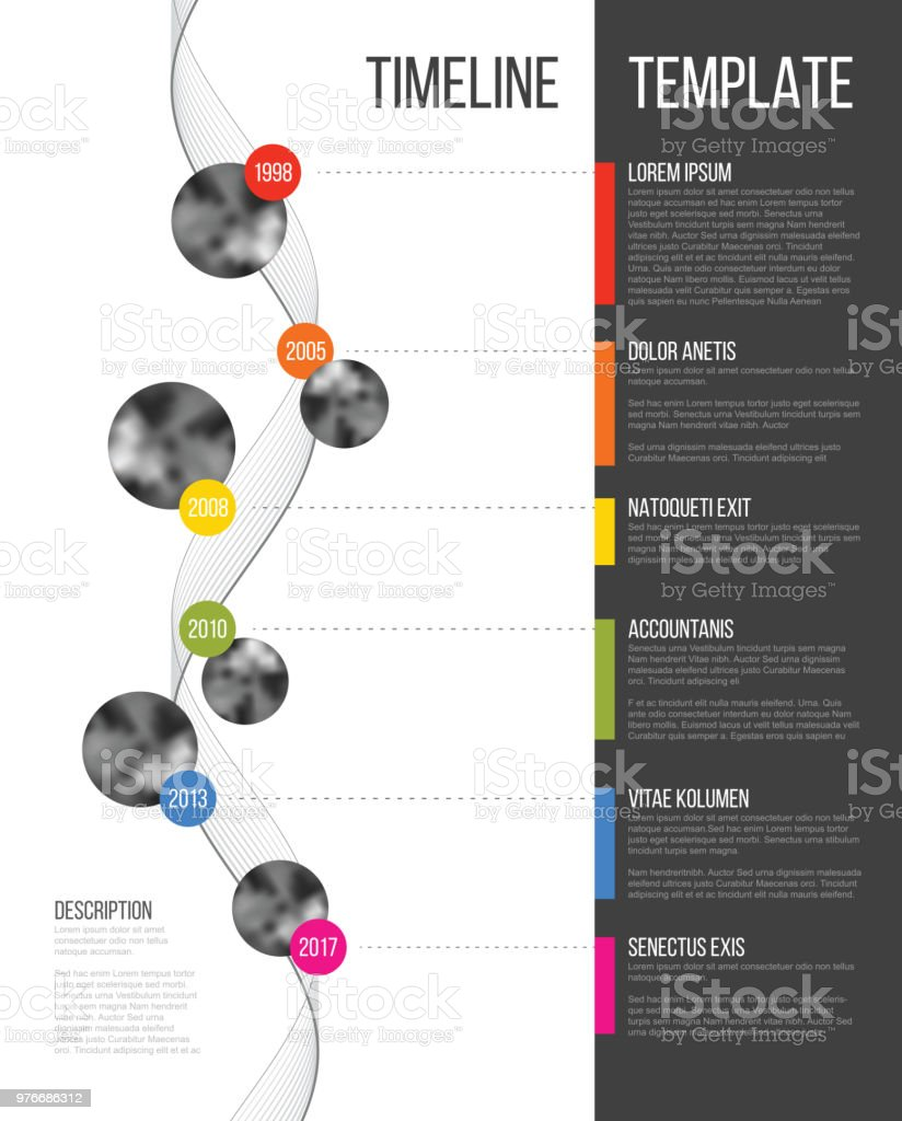 Vector Infographic Company Milestones Timeline Template vector art illustration