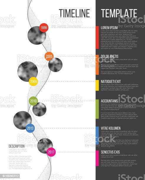 Vetores de Vector Infográfico Empresa Marcos Timeline Modelo e mais imagens de Acontecimentos da Vida