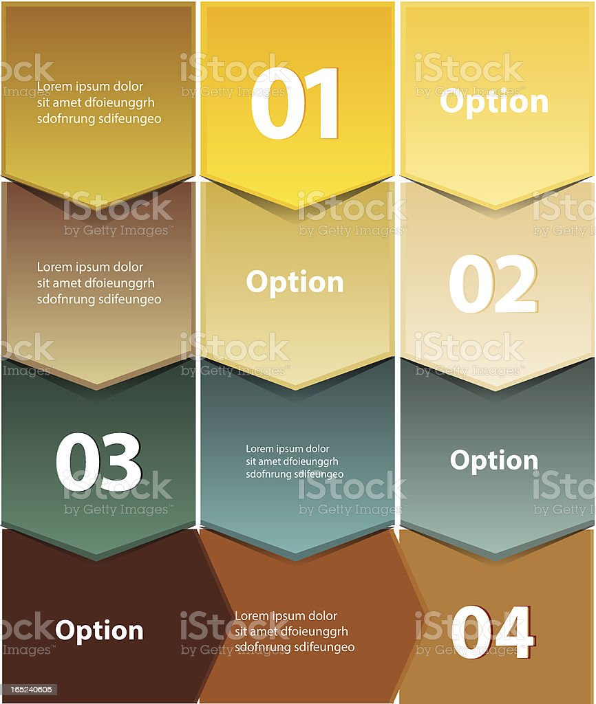 Vector infographic design background royalty-free stock vector art