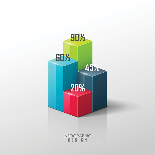 Vector infographic design elements Vector infographic design elements. Presentation template. bar graph stock illustrations