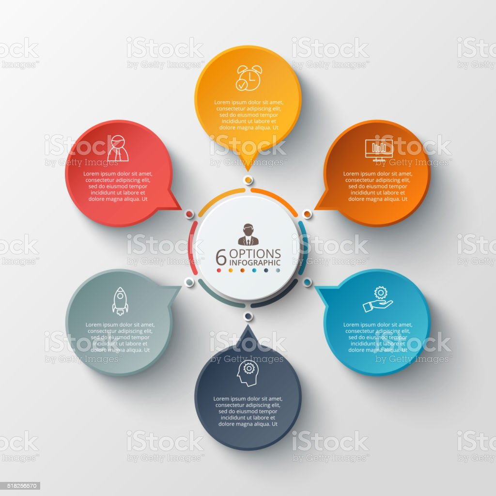 Vector infographic design template. royalty-free stock vector art