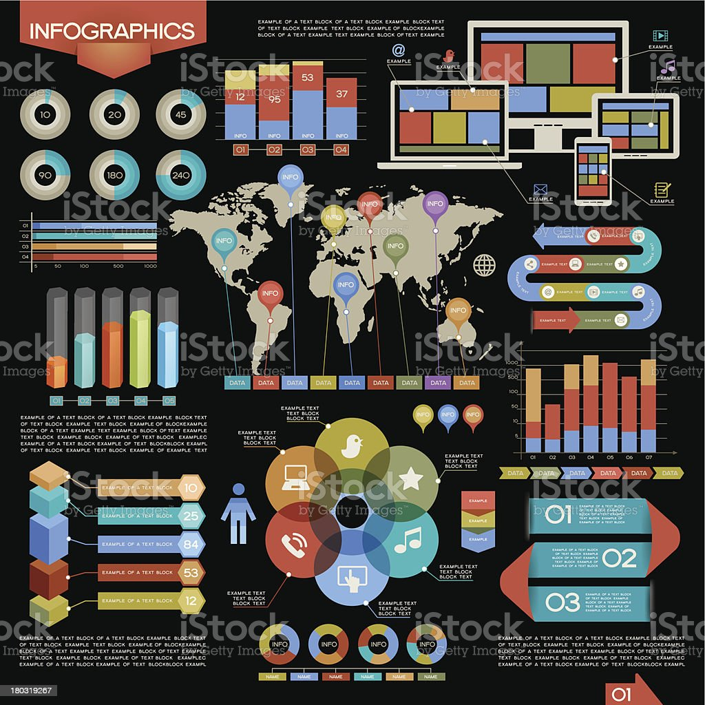 Vector Infographic Elements Set royalty-free vector infographic elements set stock vector art & more images of abstract