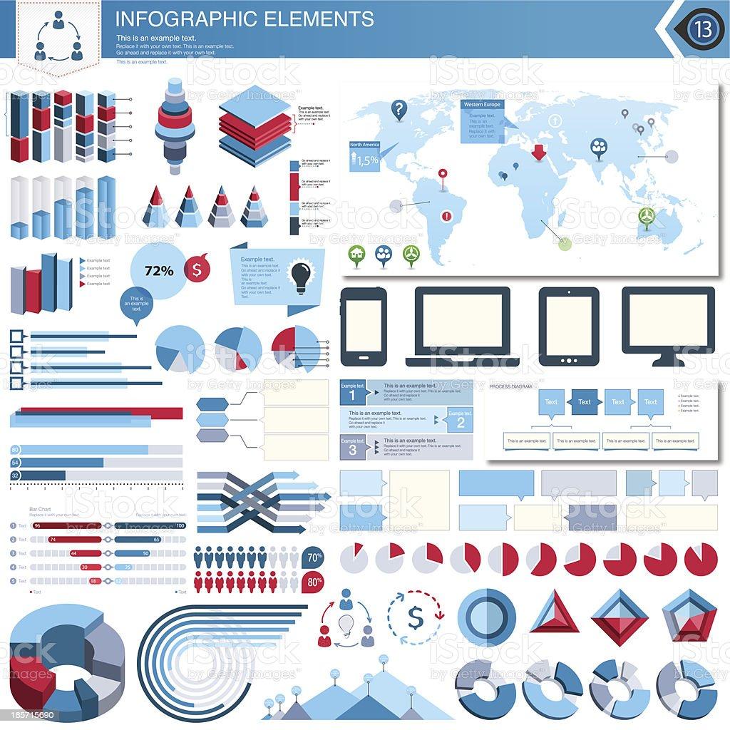 Vector Infographic Elements Set vector art illustration