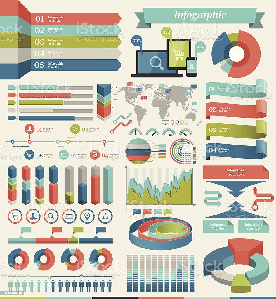 Vector infographic elements vector art illustration