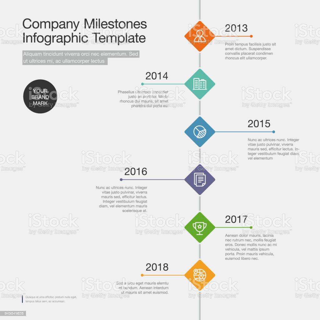 Infografía De Vector De Plantilla De Calendario De Hitos Empresa Con ...