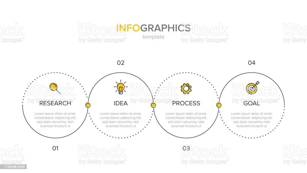 Modèle Détiquette Infographique Vectorielle Avec Des Icônes