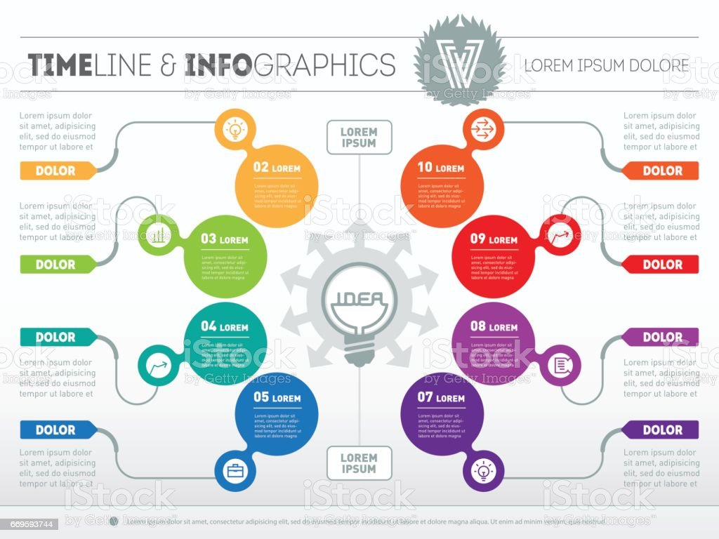 Vector Infographic Of Technology Or Education Process Business ...