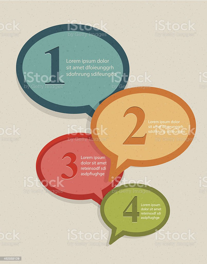 Vector infographic speech bubbles royalty-free stock vector art