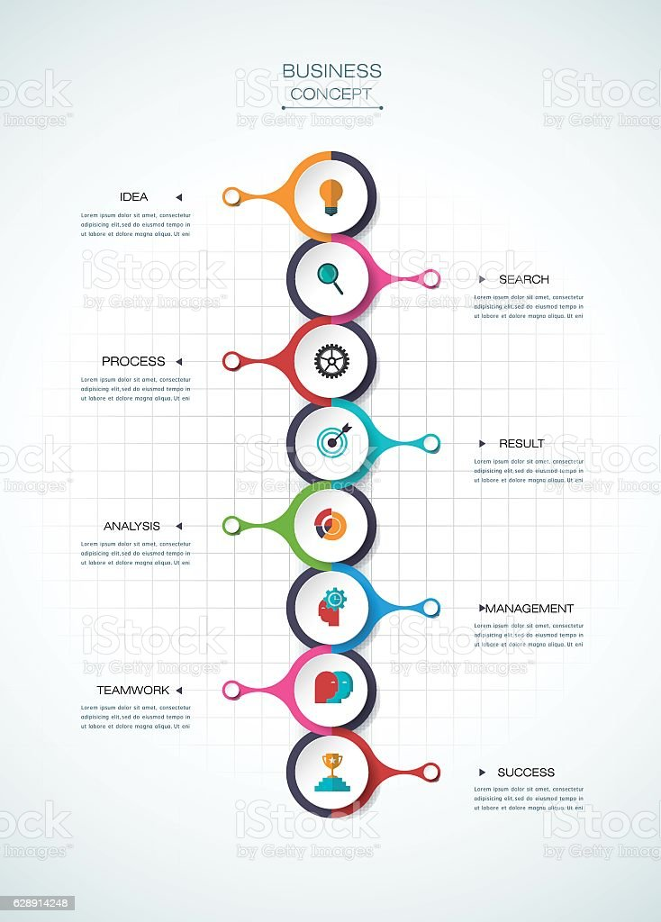 Vector infographic template.  Business concept with options vector art illustration