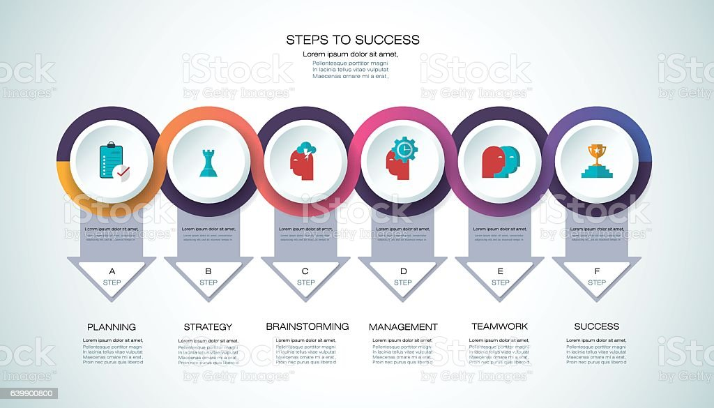 vector infographic template business process concept with options royalty free vector infographic template business
