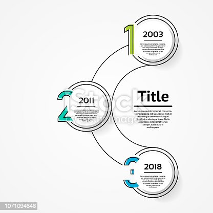 istock Vector infographic template for diagram, graph, presentation and chart. Business concept with 3 options, parts, steps or processes 1071094646