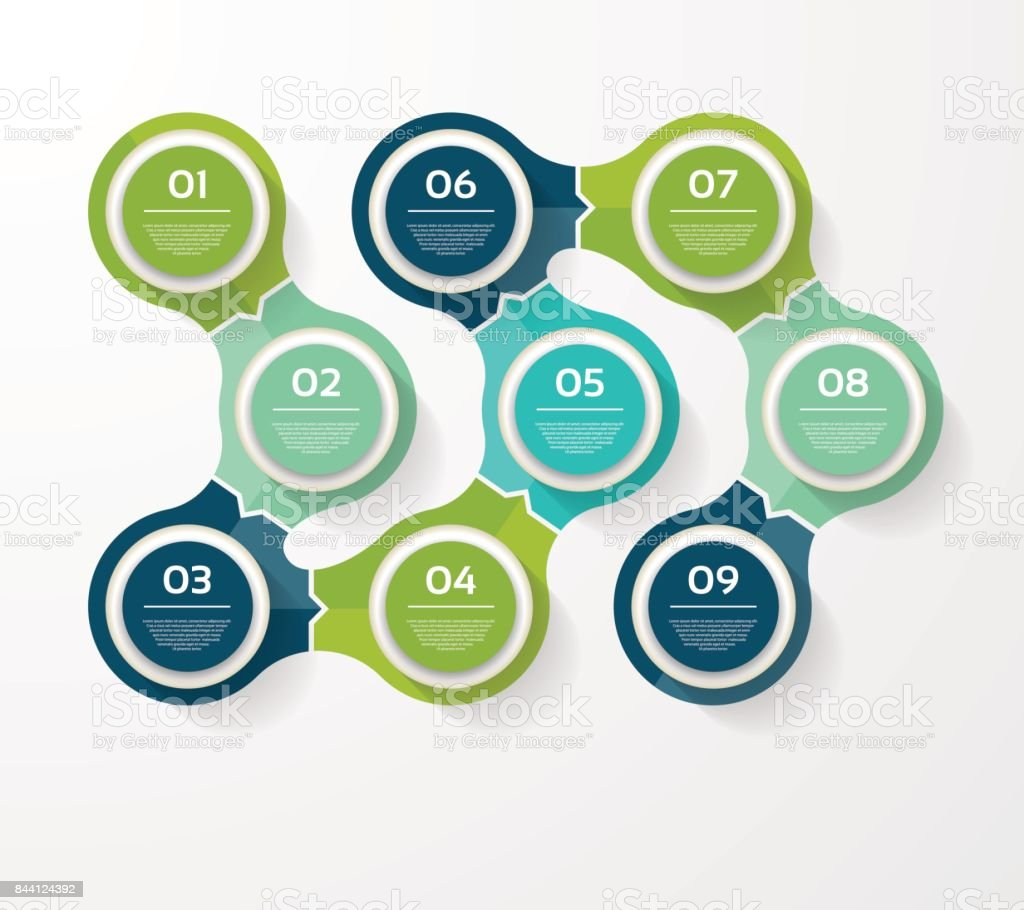 Vector infographic template for diagram, graph, presentation and chart. Business concept with 9 options, parts, steps or processes royalty-free vector infographic template for diagram graph presentation and chart business concept with 9 options parts steps or processes stock illustration - download image now