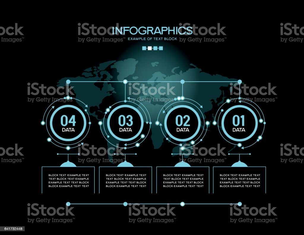 Vector infographic template vector art illustration