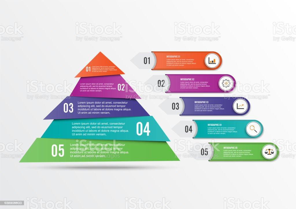 Vector infographic template with 3d paper label integrated circles vector infographic template with 3d paper label integrated circles business concept with options accmission Images