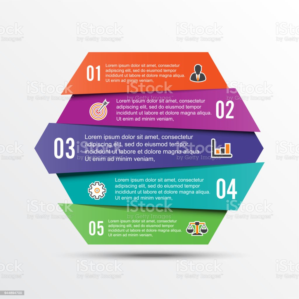 Vector infographic template with 3d paper label integrated circles vector infographic template with 3d paper label integrated circles business concept with options wajeb Images