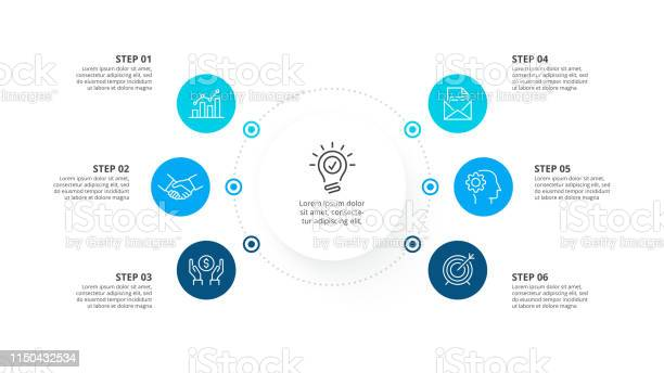 Vector infographic template with circles business concept with 6 vector id1150432534?b=1&k=6&m=1150432534&s=612x612&h=3cpq7jz07vxkuhxrdwydykkzkpxwb2d8arptca1kwwq=
