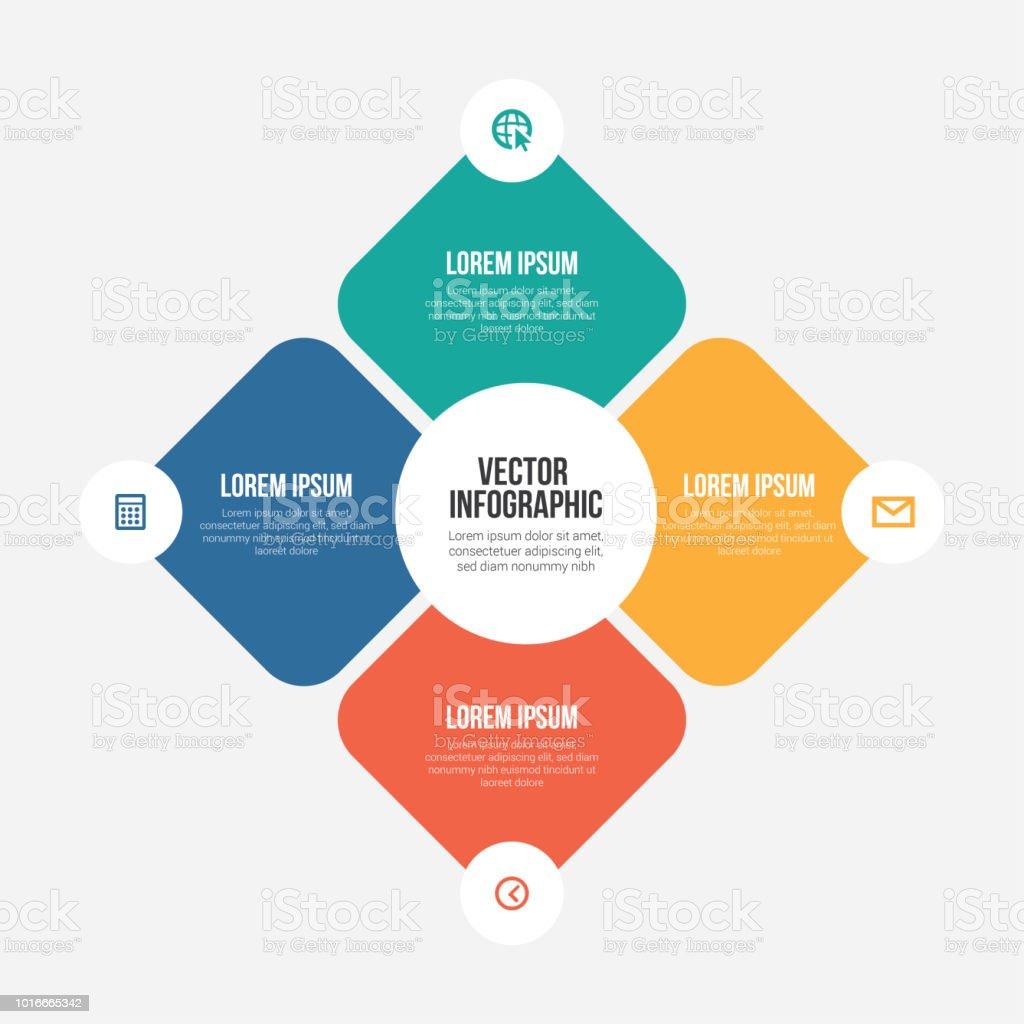 Vector Infographic Templates – artystyczna grafika wektorowa