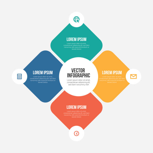 vector infographic templates - klawisz option stock illustrations