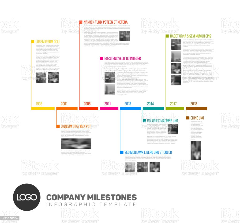 Vector Infographic timeline report template vector art illustration