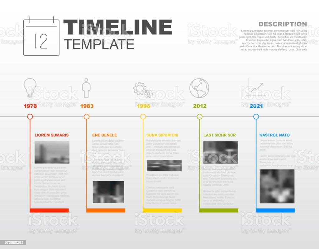 Vetor infográfico linha do tempo do modelo de relatório - Vetor de Abstrato royalty-free