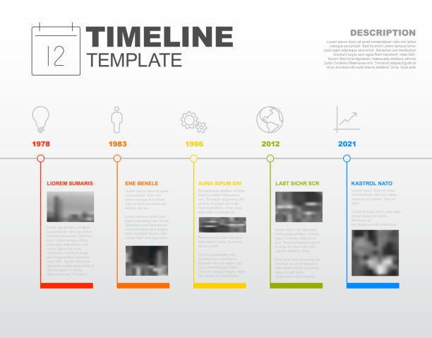 vector infographic timeline report template - timeline stock illustrations