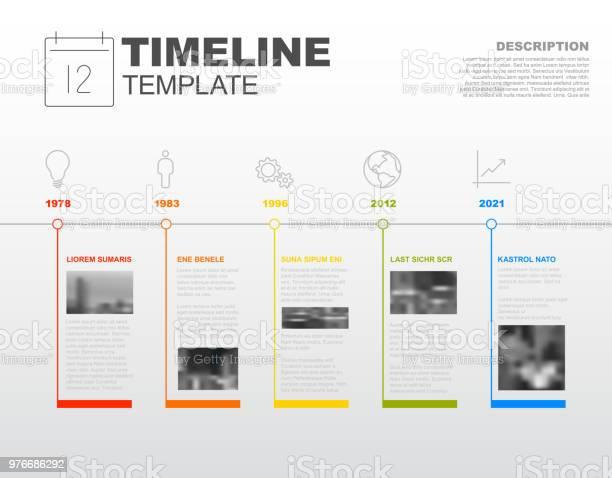 Vetores de Vetor Infográfico Linha Do Tempo Do Modelo De Relatório e mais imagens de Abstrato
