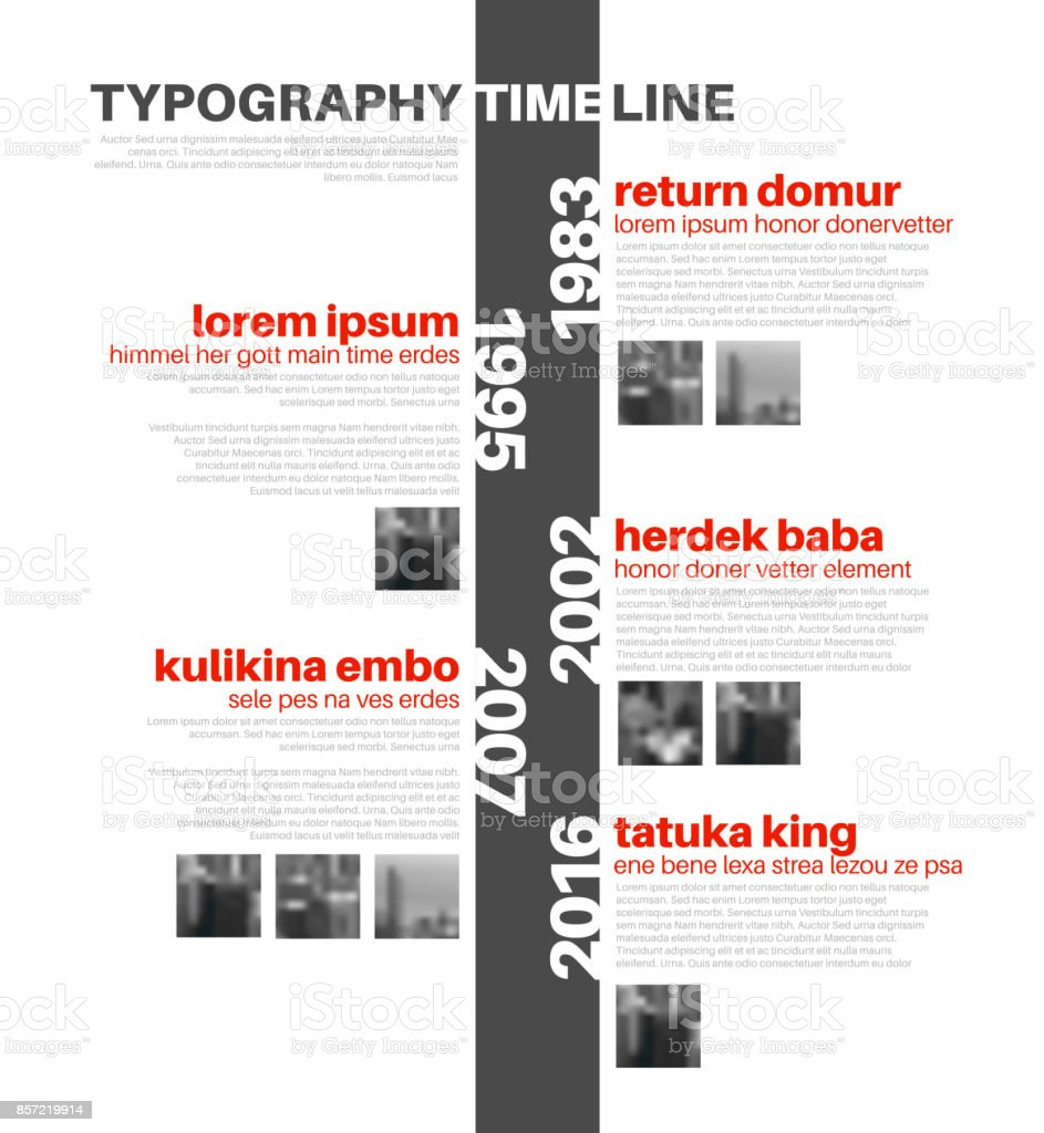 Vector Infographic typography timeline report template vector art illustration