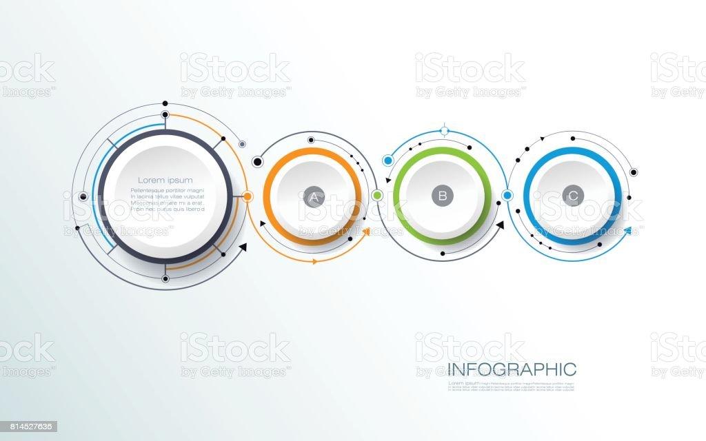Vektor Infografiken 3d Papier Zyklus Diagrammvorlage Stock Vektor ...
