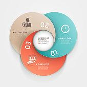 Vector infographics circle business templates