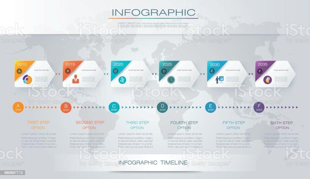 vector infographics timeline design つながりのベクターアート素材や