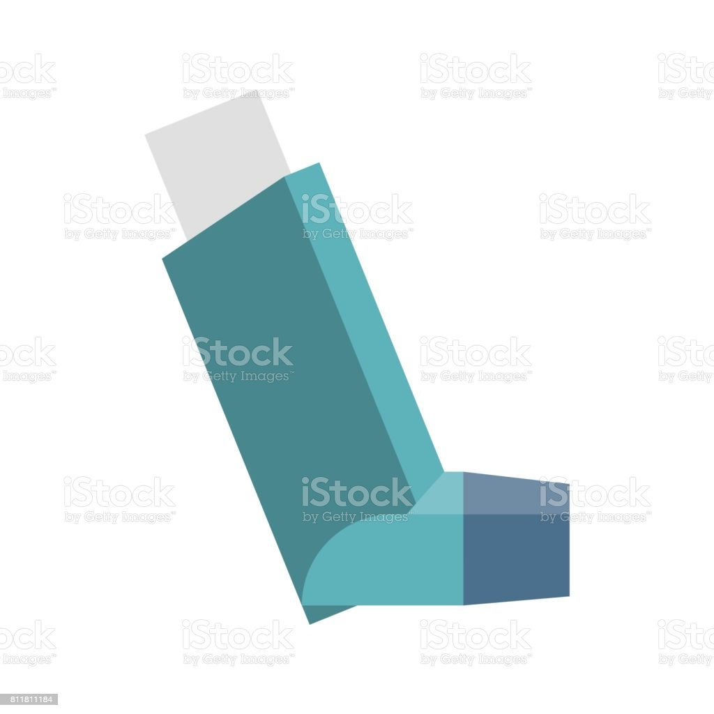 Vector inhaler vector art illustration