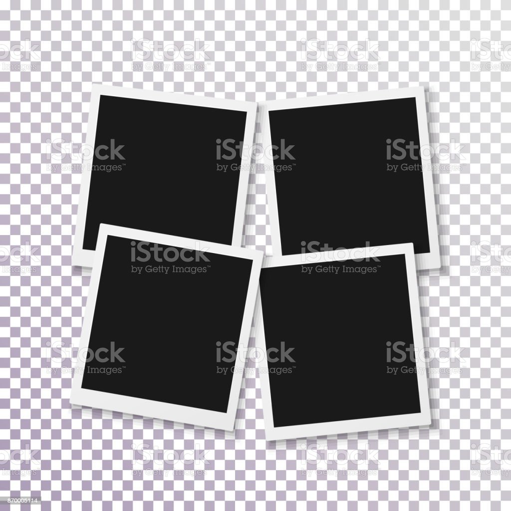 Vector Instant Photo Frame Realistic Photo Frame Fast Photograph