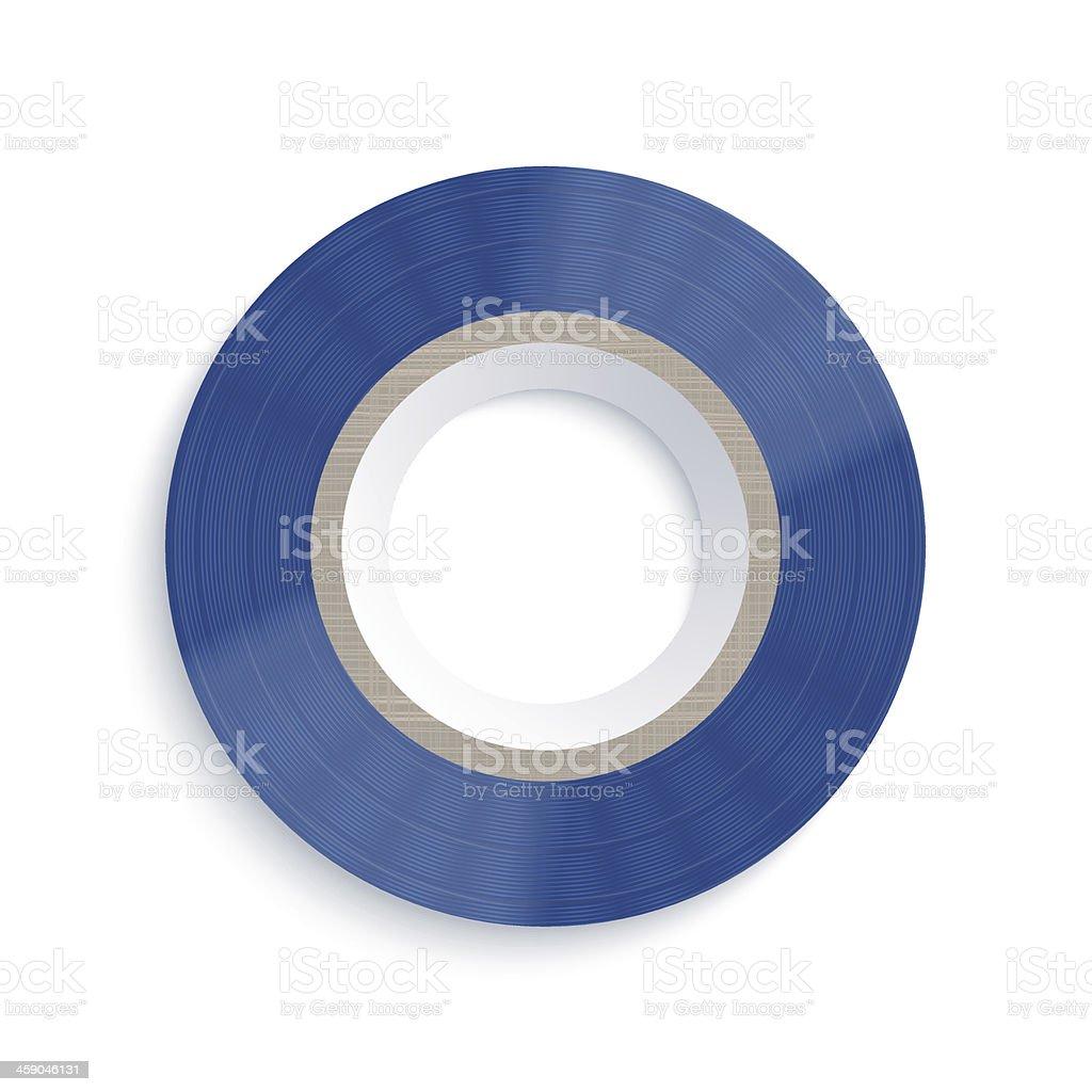 Vector insulating tape on white background. Eps10 vector art illustration