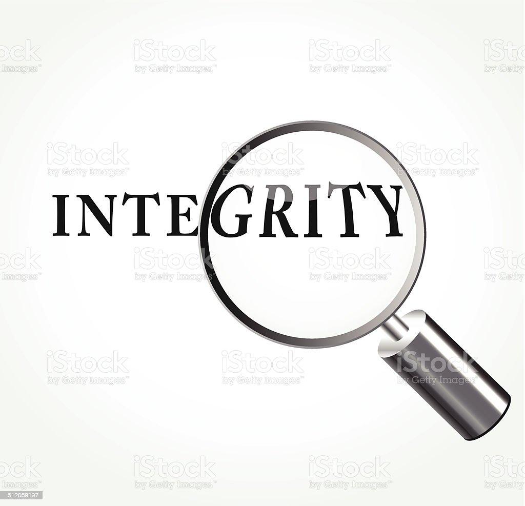 Vector integrity concept illustration vector art illustration