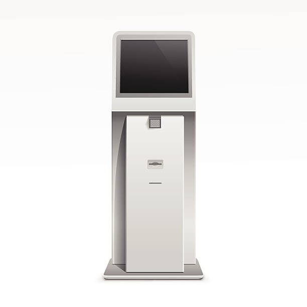 Best Interactive Kiosk Illustrations, Royalty-Free Vector